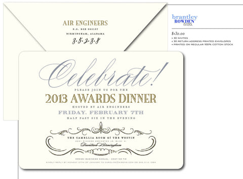 Awards Banquet Invitation
