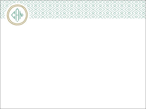 (QTY 20) Stationery Notecards with Pattern