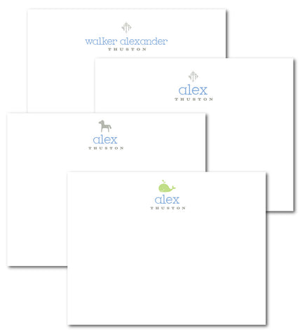 (QTY 12) Baby Boy CorrespondenceNotecards from the Classic Line