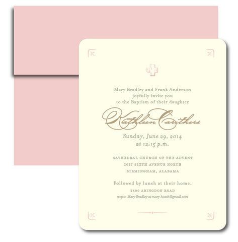 Sweet and Simple Baptism Invitation