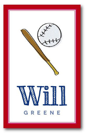 SET OF 2 - Baseball Bag Tags