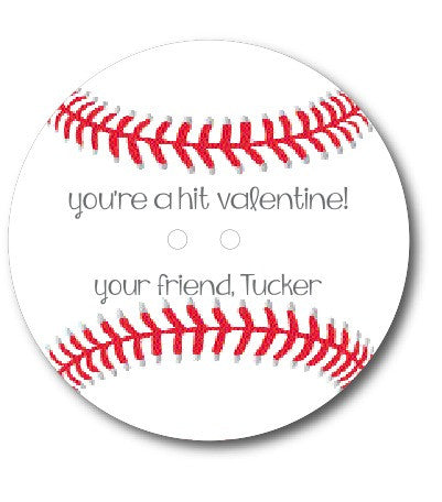 "Baseball Valentine ""You're a Hit!"""