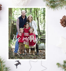 Be Merry Christmas Card + Return Addressing