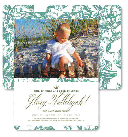 Beach Flora Christmas Card