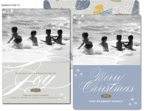 Beachy Christmas Card