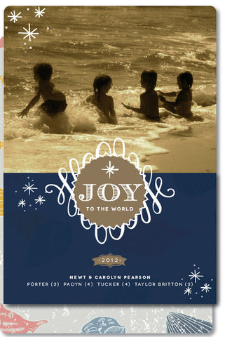Beachy Blue Christmas Card