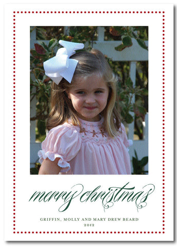 Bordered Merry Christmas Card