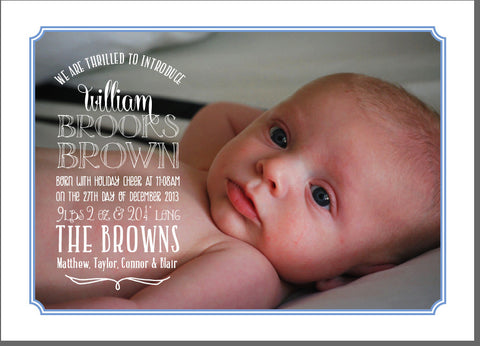Brown Birth Announcement