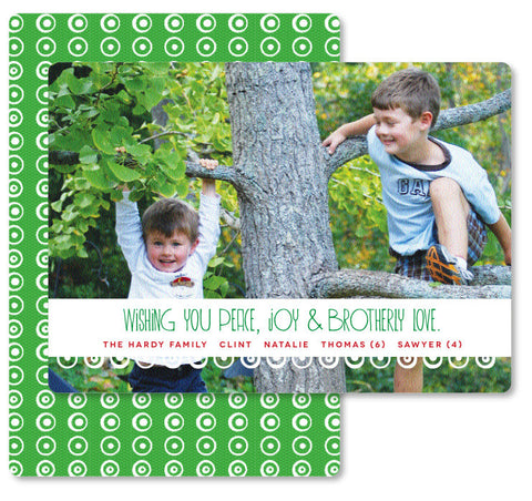 Brotherly Love Christmas Card