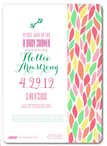 Colorful Srping Invitation