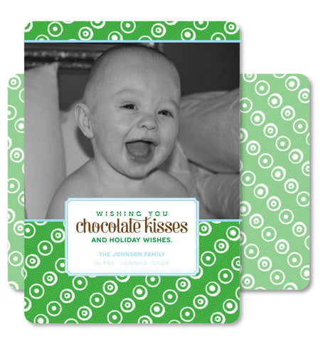 Chocolate Kisses Christmas Card