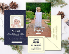 Birth Announcement + Christmas Card + New Address Combo