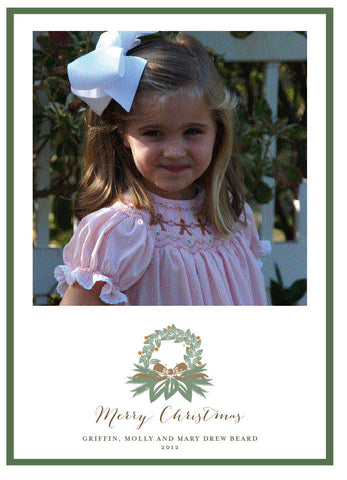 Classic Wreath Christmas Card