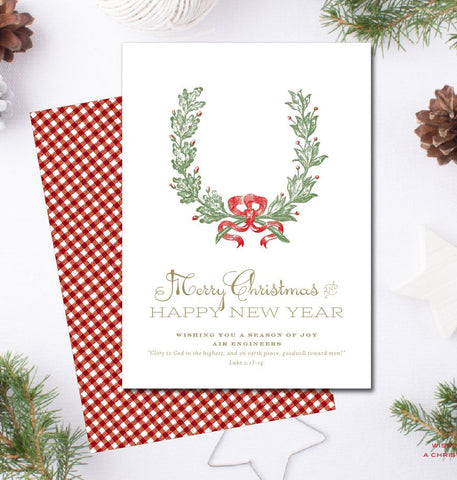 Corporate Christmas Card + Return Addressing