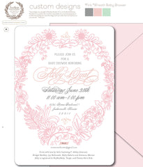 Ornate Floral Wreath Invitation