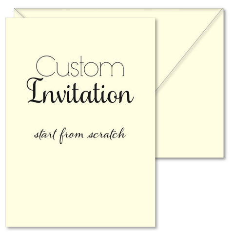 Custom Invitation with Extras