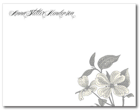 Dogwood Stationery Notecards  (QTY 16)