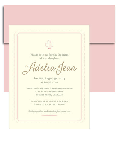 Sweet & Dainty Baptism Invitation