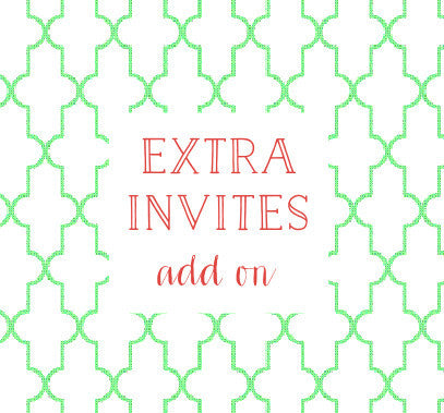 10 Extra Invites with shipping