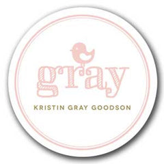 Round Girly Sticker