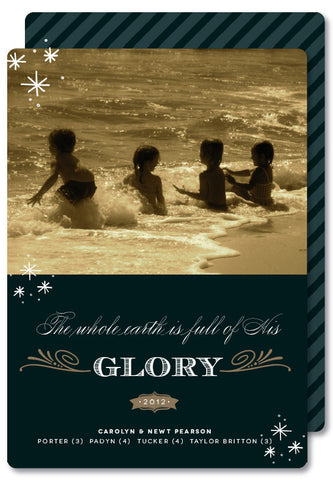 The whole Earth is full of His Glory Christmas Card