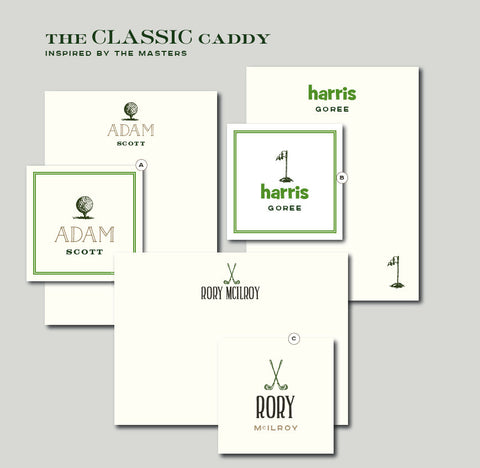 The Classic Caddy Notecards inspired by The Masters Golf Tournament