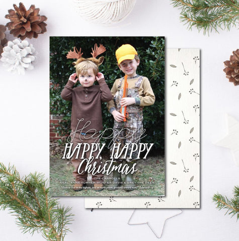 Happy Happy Happy Hunter Christmas Card