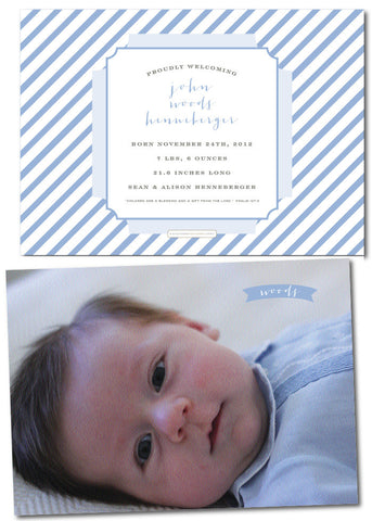 Henneberger Feldman Stripe Birth Announcement
