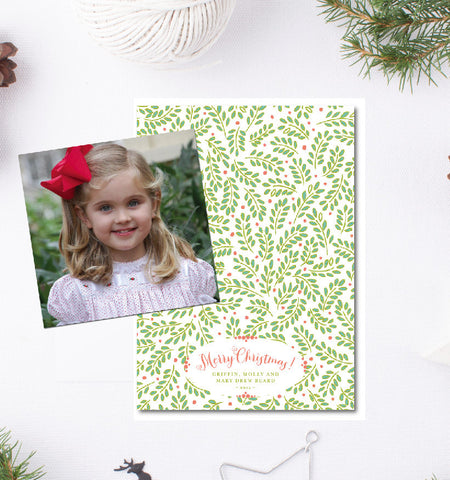 Holly Berry Cotton Card