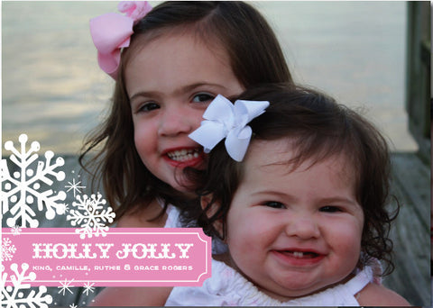 Holly Jolly Snowflake Christmas Card