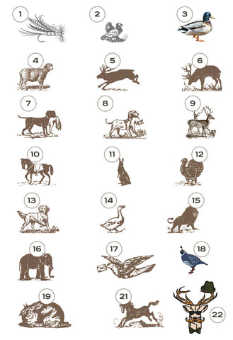 Wildlife Collection Suite of 50 Notecards -Design Your Own!