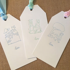 Nursery Rhyme Letterpress Gift Tags