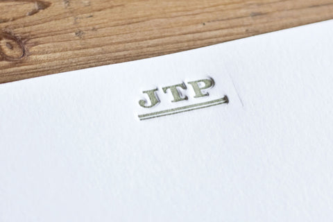 Classic Initial Letterpressed Notes