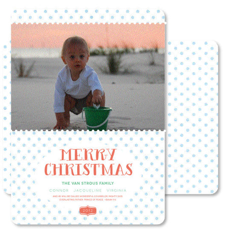 Light blue Polkas with PASTEL Merry Christmas