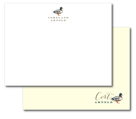 (QTY 20) MALLARD Stationery Notecards