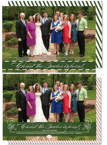 Taffy Stripe Christmas Card