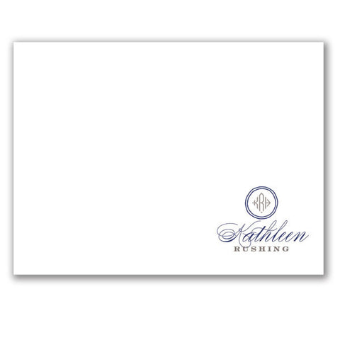 (QTY 24) Stationery Notecards Script & Monogram