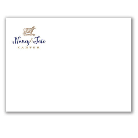 (QTY 20) Stationery Notecards with Lamb