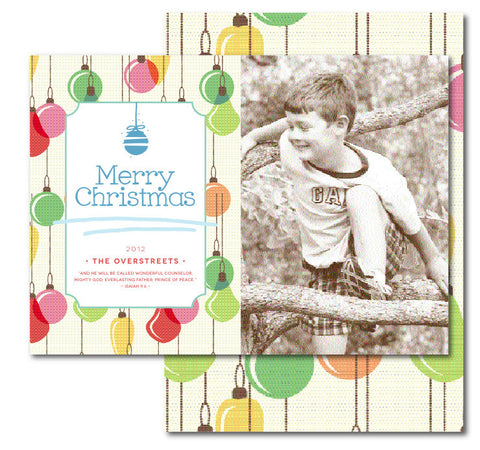 Pastel Ornaments Christmas Card