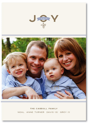 Pine Cone Joy Christmas Card