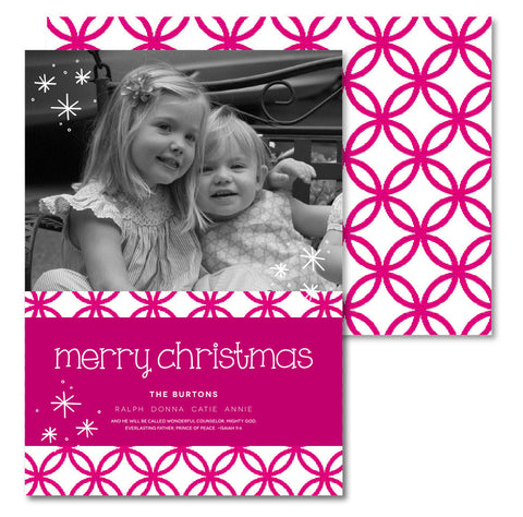 Pink Geometric Christmas Card