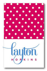 SET OF 2 - Pink Polka Tags