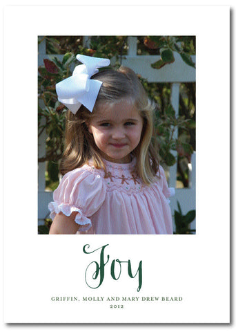 Classic Joy Christmas Card