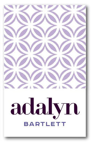 SET OF 2 -Purple Geometric Bag Tags