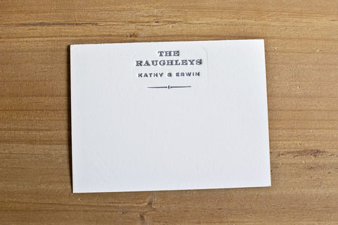 Letterpressed Stationery Goods - at the Printer's Discretion