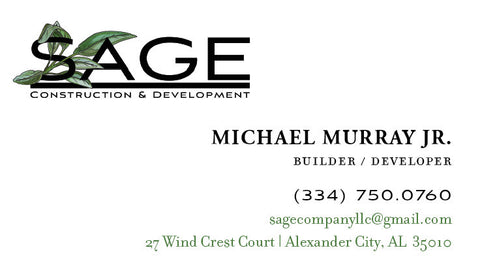 Sage Co Business Cards