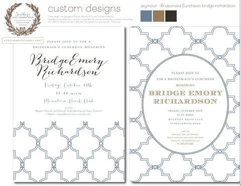 Custom Design Invitation - for Seymour