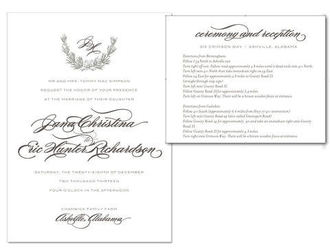 Simpson Wedding Invite + Insert