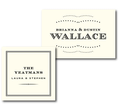 Sir Name Rectangle Letterpress Enclosure