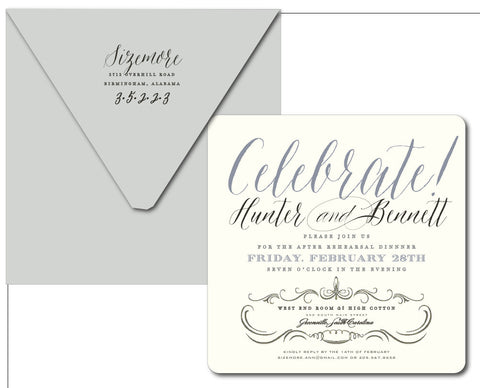 Sizemore Rehearsal Dinner Invitation